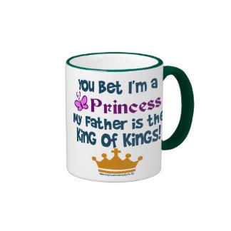 Usted apostó que soy princesa taza de café