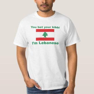 Usted apuesta su kibbi que soy el valor libanés T Playera
