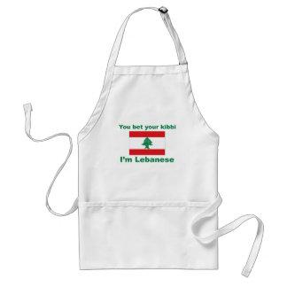 Usted apuesta su kibbi que soy libanés delantal