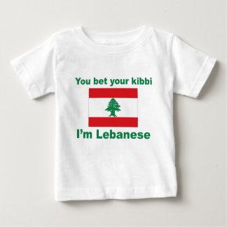 Usted apuesta su kibbi que soy libanés playera de bebé
