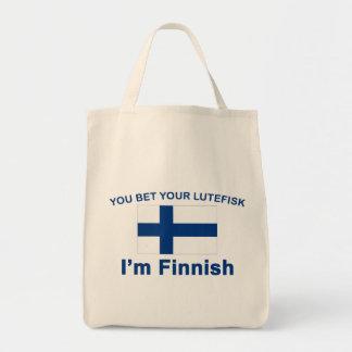 Usted apuesta su Lutefisk que soy finlandés Bolsa Lienzo