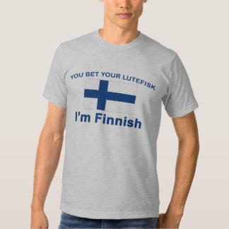 Usted apuesta su Lutefisk que soy finlandés Remeras