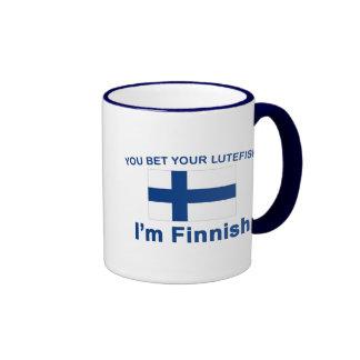 Usted apuesta su Lutefisk que soy finlandés Taza De Dos Colores