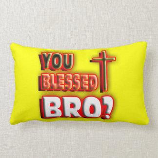 ¿Usted bendijo bro? Cojín