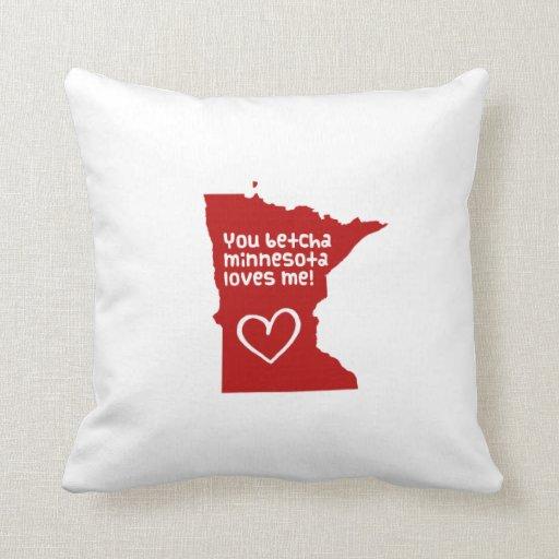 Usted Betcha Minnesota me ama Almohadas