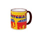 ¡Usted Betcha! Y elefantes modernizados del GOP Taza De Café