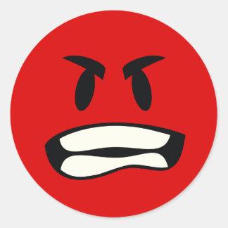 ¿Usted bro enojado? El emoji de la rabia Pegatina Redonda