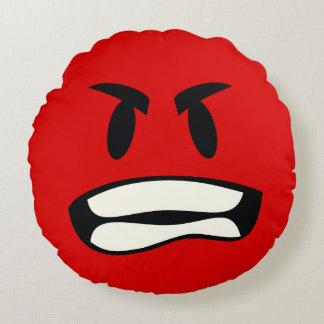 ¿usted bro enojado? - emoji de la rabia cojín redondo