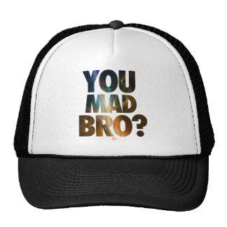 Usted Bro enojado (galaxia 6) Gorras