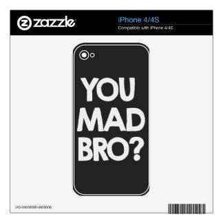 ¿Usted bro enojado? iPhone 4S Calcomanía