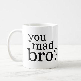 ¿Usted bro enojado? No soy incluso bro enojado Taza Básica Blanca