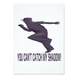 """Usted captura linada mi sombra invitación 5"""" x 7"""""""
