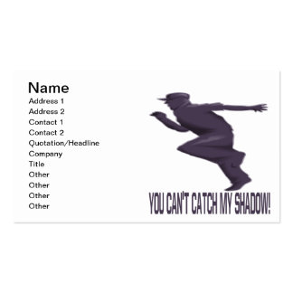 Usted captura linada mi sombra tarjetas de visita