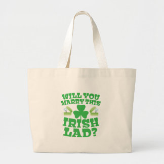 ¿Usted casará a este chaval irlandés? Bolsa Tela Grande