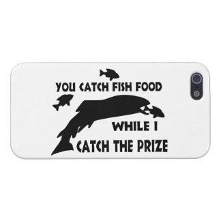 Usted coge la comida de pescados iPhone 5 carcasas