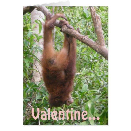 Usted colgó la luna, tarjeta del día de San Valent