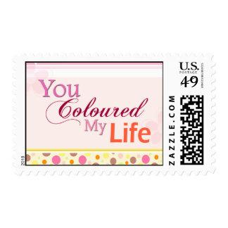 Usted coloreó mi vida sello