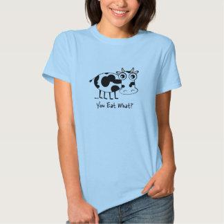 ¿Usted come lo que? Vaca Playera