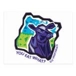 ¿Usted come lo que? Vaca Postal