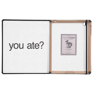 ¿usted comió iPad protector