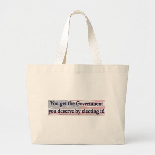 Usted consigue al gobierno que usted merece eligié bolsas