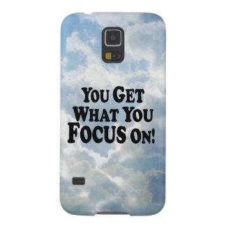 ¡Usted consigue lo que usted se enfoca encendido!  Funda Para Galaxy S5