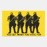Usted consigue lo que usted vota por sistema del p
