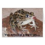 Usted consiguió besar algunas ranas…. felicitaciones