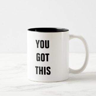 Usted consiguió esto taza de dos tonos