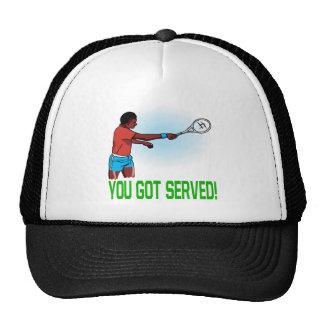 Usted consiguió servido gorros