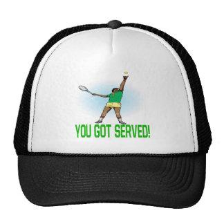 Usted consiguió servido gorras