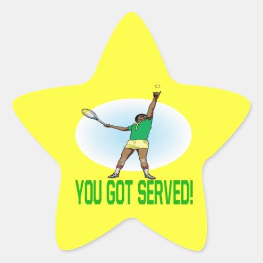 Usted consiguió servido pegatina en forma de estrella