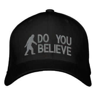 """Usted cree el logotipo de Bigfoot del *large """" Gorras De Beisbol Bordadas"""