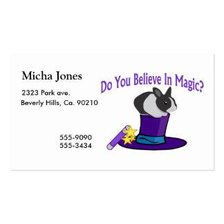 Usted cree en magia tarjetas de visita