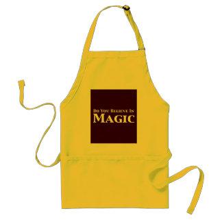 Usted cree en regalos mágicos delantal