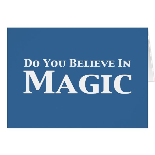 Usted cree en regalos mágicos felicitacion