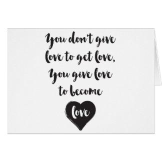 Usted da amor para hacer amor tarjeta de felicitación