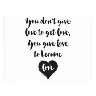 Usted da amor para hacer amor tarjetas postales