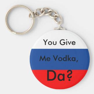 ¿Usted da, yo vodka, DA? Llavero Redondo Tipo Pin