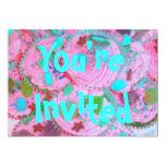 """Usted de las magdalenas rosadas es"""" invitación invitación 12,7 x 17,8 cm"""