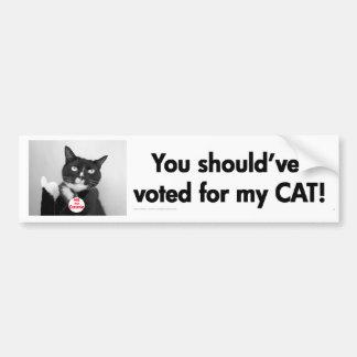 Usted debe haber votado por mi pegatina para el pa etiqueta de parachoque