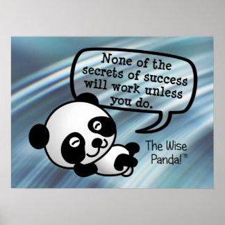 Usted debe trabajar difícilmente para el éxito póster