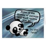 Usted debe trabajar difícilmente para el éxito tarjeton