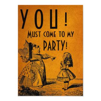 ¡USTED! ¡Debe venir a mi FIESTA! (Reina y Alicia Invitación 12,7 X 17,8 Cm