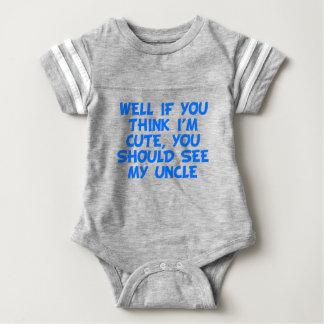 Usted debe ver a mi tío body para bebé