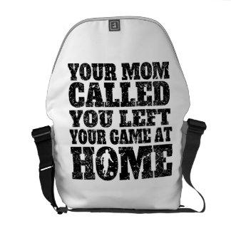 Usted dejó su fútbol del juego en casa bolsa messenger