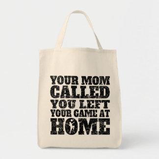 Usted dejó su fútbol del juego en casa bolsa tela para la compra