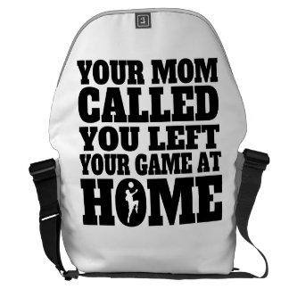 Usted dejó su fútbol del juego en casa bolsas de mensajeria