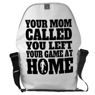 Usted dejó su fútbol del juego en casa bolsas messenger