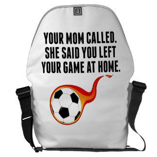 Usted dejó su juego en casa bolsa messenger